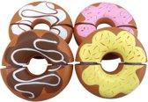Mama Memo Donuts Hout 6 Cm Bruin 4 Stuks