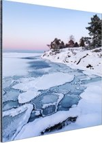 Bevroren zee Aluminium 60x90 cm - Foto print op Aluminium (metaal wanddecoratie)