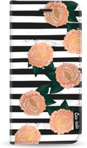 Casetastic Wallet Case Black Samsung Galaxy A6 (2018) - Striped Winter Flowers