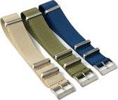Chibuntu® horloge banden - Nato Straps set - Goede doelen - 20 mm