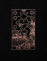 The Star: Bullet Journal - 8.5 x 11 A4 Notebook - Black and Rose Gold Design - Dot Grid Notebook