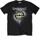 Evanescence - Classic Logo heren unisex T-shirt zwart - M