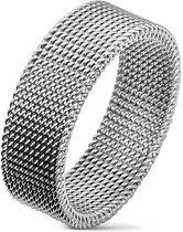 Ringen Mannen - Ring Mannen - Zilverkleurig - Zilveren Kleur - Ring - Ringen - Stoere en Unieke Flexibele Ring - Flexo