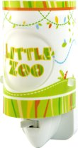 Dalber Little Zoo - Nachtlampje - Groen/Wit