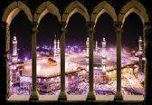 Fotobehang Mosque View By Night   L - 152.5cm x 104cm   130g/m2 Vlies