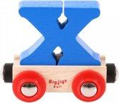 Bigjigs - Rails - Naamtrein - Letter X - Oranje
