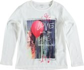 Name it stevige snow white longsleeve polyester voorzijde Maat - 146/152