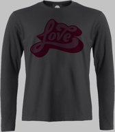 Longsleeve M Love - Zwart - M - XXXXL Sportshirt
