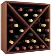 Wijnkast wijnrek Weino III modulair samen te stellen noten