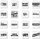 Wenskaarten (Pakketje met 16 wenskaarten van SilliBeads)