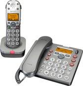 AMPLICOMMS PowerTel 880 Combo Vaste- + draadloze telefoon met 40 dB VERSTERKING voor SLECHTHORENDEN. Plus BEANTWOORDER