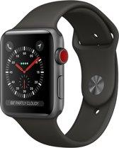 Apple Watch Series 3 Smartwatch + Cellular 42mm Spacegrijs Aluminium / Grijs Sportband