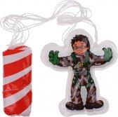 Toi-toys Parachutespringer 10 Cm Grijs/groen