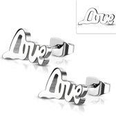 Montebello Oorbellen Ayca - Dames - 316L Staal PVC - Love  - 16x7 mm