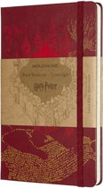 Moleskine Classic Notitieboek - Limited edition Harry Potter - Large - gelinieerd - Hard Cover - Rood