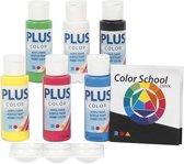 Plus Color acrylverf - Color School, 6x60 ml, primaire kleuren