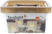 24 x Theelichten LED inclusief Batterij  Tealight   Theelichtjes   Waxine Lichtjes   Waxinelichten   LED Kaars   Ambiance Kaarsjes  Werkt op Batterij