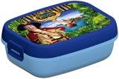Lunchbox Piet Piraat blauw -