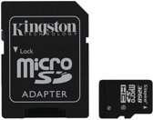 Kingston microSD kaart 32 GB + SD Adapter