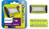 Philips OneBlade Face + Bodykit QP610/50 - Vervangmesjes - 1 mesje