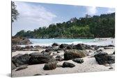 Uitzicht op het Nationaal park Meru Betiri in Indonesië Aluminium 90x60 cm - Foto print op Aluminium (metaal wanddecoratie)