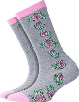 Burlington Roses Sokje Dames 20728 - 36-41 - Grijs