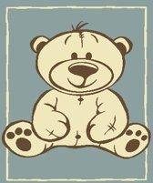 Kindertapijt met beer blauw - 120 x 170 cm