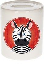 Zebra spaarpot voor kinderen 9 cm