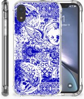 Apple iPhone Xr Uniek TPU Hoesje Angel Skull Blue