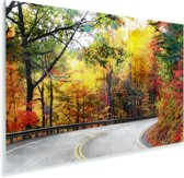 De Blue Ridge Parkway in North Carolina tijdens de herfst Plexiglas 30x20 cm - klein - Foto print op Glas (Plexiglas wanddecoratie)