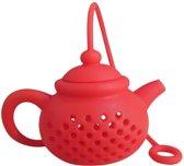 2 stuks theepotjes - Thee ei   Thee filter   losse thee of kruiden  rood