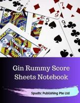 Gin Rummy Score Sheets Notebook