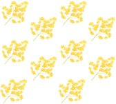 Kunstbladeren Japanse notenboom 10 st 65 cm geel