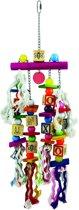 Nobby papegaaien-toy hout en touw nr.2 mix 15 x 50 cm - 1 st