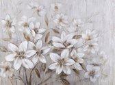 Olieverfschilderij - Witte Bloemen