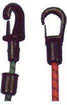 Nylon haak voor schok-koorden van 8 mm zwart (GS60119)
