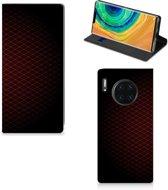 Huawei Mate 30 Pro Hoesje met Magneet Geruit Rood