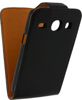 Xccess Leather Flip Case Samsung Galaxy Core I8260 Black