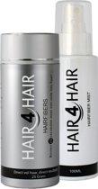 Hair4Hair, Hair fibers en Hairfiber Mist, camouflerende haarvezels met styling en fixatie spray, Zwart, 25 gr