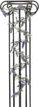 Europalms kunstplant Bloeiende guirlande - bloemen slinger - blauw - 180 cm