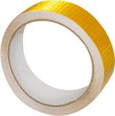 RM Veiligheidstape reflecterende tape Goud/Geel weerbestendige reflectietape 5 meter x 25 mm Reflector plakband zelfklevend voor fiets of (bedrijfs)auto etc.