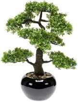 Emerald Kunstplant mini bonsai ficus groen 47 cm 420006