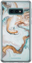 Samsung Galaxy S10e siliconen hoesje - Marmer blauw goud