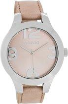 OOZOO Timepieces C7590 - Horloge - Leer - Roze - 40 mm