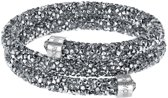 Swarovski armband Crystaldust  Double 5237762 - Antraciet - 55 mm - M
