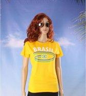 Geel Brazilie t-shirt dames M
