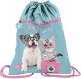 Studio Pets Happy friends - Gymbag - 45 x 34 cm - Blauw