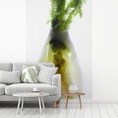 Fotobehang vinyl - Dwarsdoorsnede van venkel op een lichtbak breedte 270 cm x hoogte 400 cm - Foto print op behang (in 7 formaten beschikbaar)
