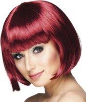 Pruik Cabaret mahonie rood