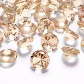 Tafel diamant goud 20mm